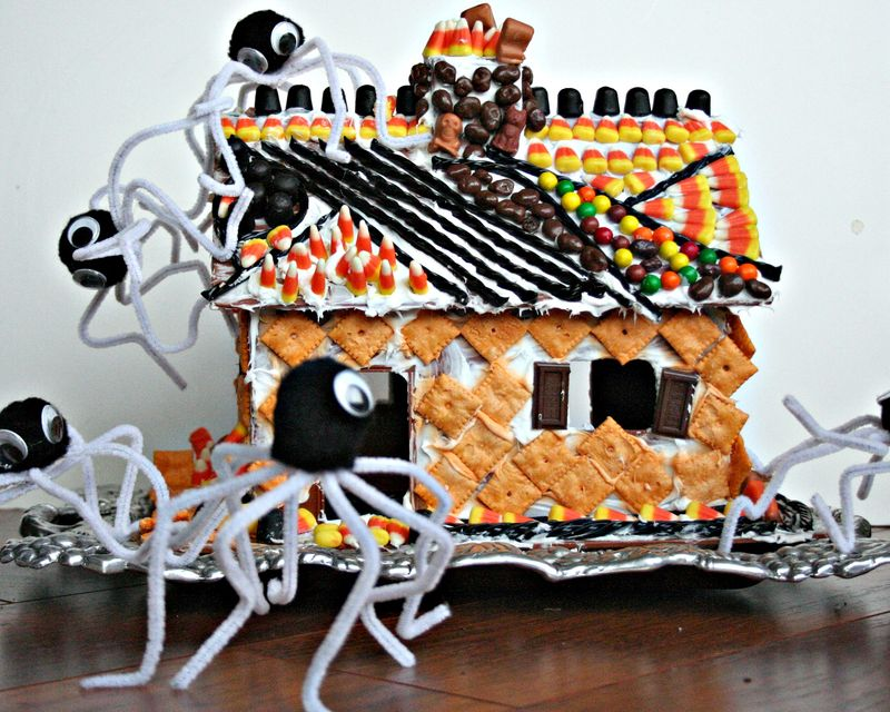 Halloween candy cottage
