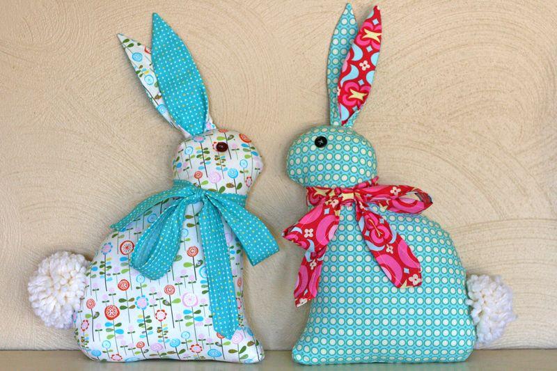 2 turquoise bunnies