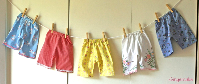 GingercakeVintage FabricBabyPants