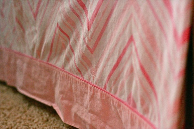 Gingercake Chevron Crib Skirt