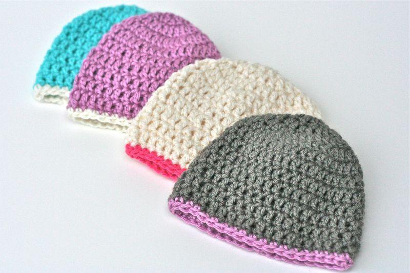 LBGStudio Crocheted Baby Hats